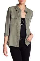 Silver Jeans Co. Long Sleeve Utility Shirt Green