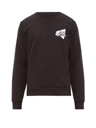 A.P.C. Logo Print Cotton Sweatshirt Black