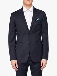 Ted Baker Timzon Wool Tailored Suit Jacket Navy