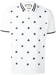 Gucci Bee And Star Polo Shirt White