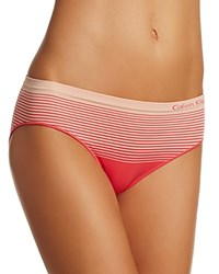 Calvin Klein Seamless Illusions Boyshort Qd3549 Sultry Pink Zephyr Red