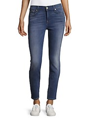7 For All Mankind Slim Fit Ankle Length Jeans Blue