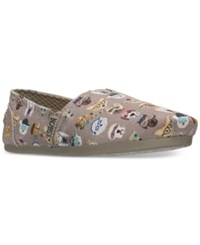 Skechers Women's Bobs Plush Pup Smarts Casual Slip On Flats From Finish Line Taupe