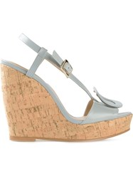 Roger Vivier Wedge Sandals Blue