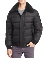 Andrew Marc New York Pinnacle Puffer Bomber Jacket Black