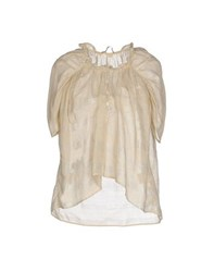 Gold Case Sogno Shirts Blouses Women Beige