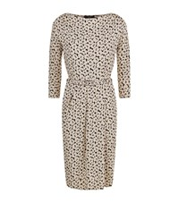 Max Mara Weekend Nerone Floral Print Jersey Ruched Dress Female Multi