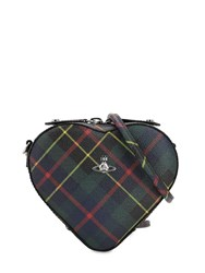 Vivienne Westwood Derby Coated Canvas Heart Bag Hunting Tartan