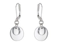 Lauren Ralph Lauren Double Disk Drop Earrings Silver Earring