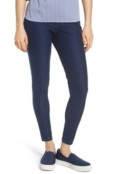Nordstrom Basic High Waist Denim Leggings Navy Indigo Dark Wash