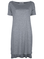T By Alexander Wang Loose Fit T Shirt Dress Grey