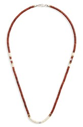Link Up Men's Disc Turquoise Bead Necklace Red