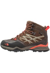 The North Face Hedgehog Hike Gtx Walking Boots Morel Brown Radiant Orange