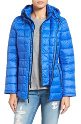 Michael Michael Kors Women's Quilted Down Jacket Tide Blue