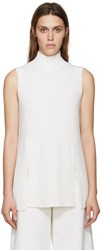 Proenza Schouler Ivory Sleeveless Vented Turtleneck