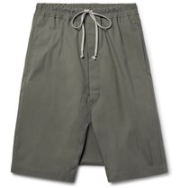 Rick Owens Coated Cotton Shorts Anthracite