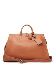 Ralph Lauren Purple Label Zipped Leather Holdall Brown