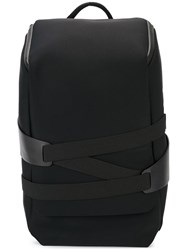 Y 3 Strap Detail Backpack Black