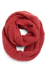 Women's Echo Mixed Stitch Infinity Scarf Pink Winter Rose