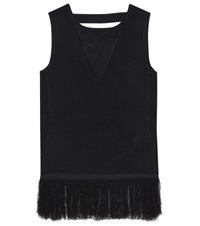 Edun Ottoman Ribbed Top Black