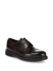 Brioni Goodyear Brogue Derby Shoe Red