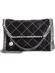 Stella Mccartney 'Falabella' Quilted Satchel Black