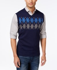 Club Room Big And Tall Argyle Sweater Vest Only At Macy's
