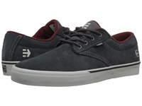 Etnies Jameson Vulc Dark Grey Grey Red Men's Skate Shoes Gray
