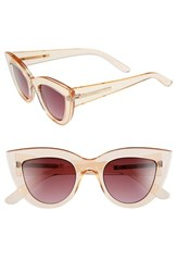 Women's Bcbgmaxazria 49Mm Cat Eye Sunglasses Peach