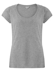 Jigsaw Pima Cotton Blend T Shirt Mel Grey