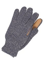 Bickley Mitchell Gloves Navy Twist Dark Blue