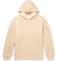 Givenchy Logo Embroidered Fleece Hoodie Neutral
