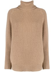 Ralph Lauren Turtleneck Jumper Brown