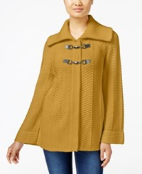 Jm Collection Toggle Front Cardigan Only At Macy's Saffron Gold
