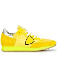 Philippe Model Panelled Sneakers Yellow Orange