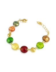 Antica Murrina Veneziana Frida Murano Glass Bead Bracelet Multicolor Gold