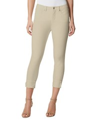 Miraclebody Jeans Promise Cropped Pale Khaki