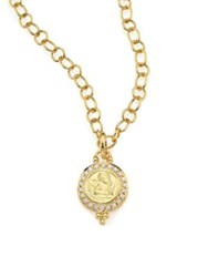 Temple St. Clair Angels Pave Diamond And 18K Yellow Gold Pendant