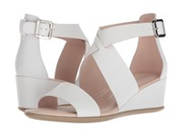 Ecco Shape 35 Wedge Ankle Bright White Calf Leather Wedge Shoes