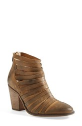 Women's Free People 'Hybrid' Strappy Leather Bootie Tan