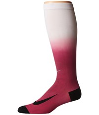 Nike Dry Elite Lightweight Fade Over The Calf Sport Fuchsia Racer Pink Knee High Socks Shoes Red