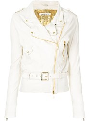 Giorgio Brato Belted Biker Jacket Multicolour