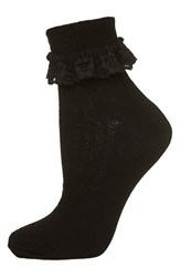 Women's Topshop Lace Trim Socks