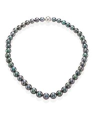 Mikimoto 8.5Mm Purple Cultured Akoya Pearl And 18K White Gold Strand Necklace