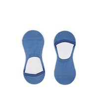 Barneys New York Stretch Cotton No Show Socks Blue