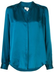 L'agence Bianca Loose Fit Silk Shirt 60