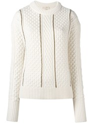 Michael Michael Kors Cable Knit Jumper Nude Neutrals