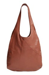 Ed Ellen Degeneres Monterey Leather Hobo Brown