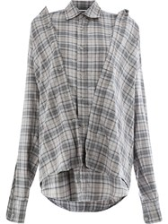 Moohong Plaid Shirt Grey