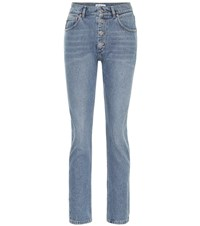Balenciaga High Rise Slim Jeans Blue